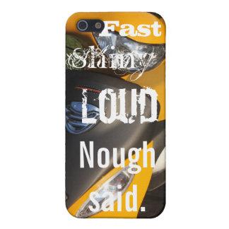 速い光沢がある騒々しく、黄色いオートバイ iPhone 5 CASE