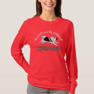 速い及び最も毛皮で覆われたKeeshonden Tシャツ