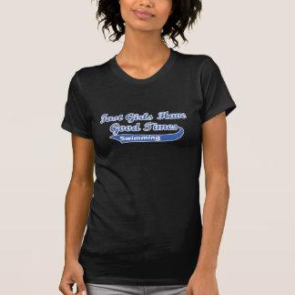 速い女の子はよい時を過します(青い) Tシャツ