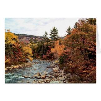 速い川の秋カード カード