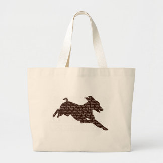"""速い茶色の""""犬""""は不精な""""孤""""を飛び越します ラージトートバッグ"""