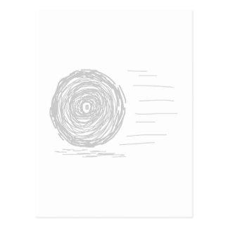 速い。 突進。 白の灰色の記号 ポストカード