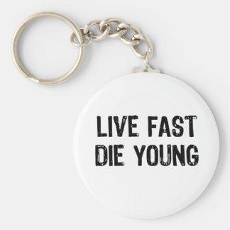 速く住んで下さい、若者死んで下さい キーホルダー