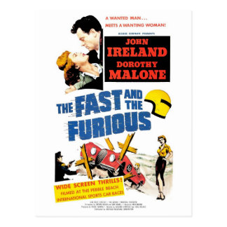 速く及びFurious (1955年の)郵便はがき ポストカード