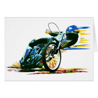 速く素晴らしい高速自動車道路のオートバイ カード