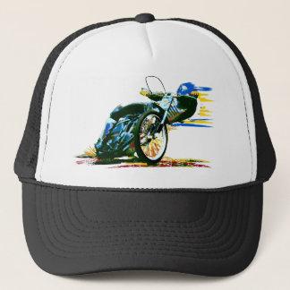 速く素晴らしい高速自動車道路のオートバイ キャップ