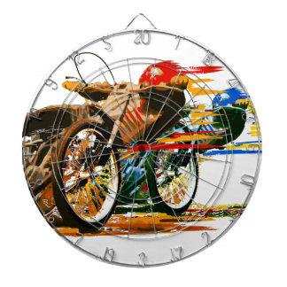 速く素晴らしい高速自動車道路のオートバイ ダーツボード