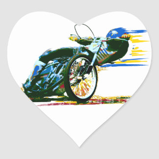 速く素晴らしい高速自動車道路のオートバイ ハートシール