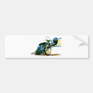速く素晴らしい高速自動車道路のオートバイ バンパーステッカー