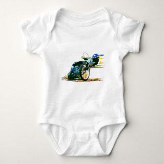 速く素晴らしい高速自動車道路のオートバイ ベビーボディスーツ