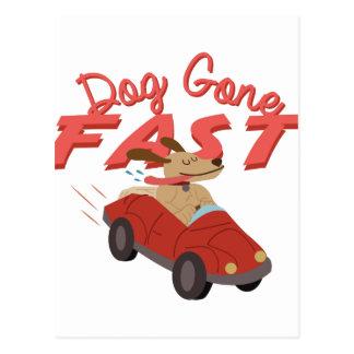 速く行く犬 ポストカード