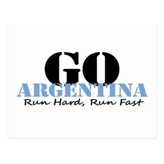 速く走られるアルゼンチンは行きます ポストカード