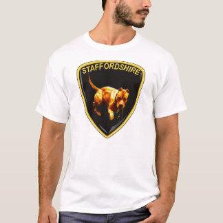 速く、激烈なピットブルのロゴのワイシャツのおもしろい及びトレンディー Tシャツ