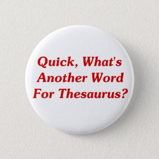 速く、辞典のためのもう一つの単語は何ですか。 5.7CM 丸型バッジ