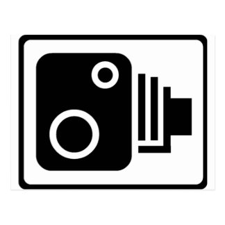速度のカメラの記号 ポストカード