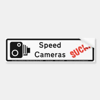速度のカメラは吸います バンパーステッカー
