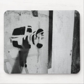 速度のガンカメラの落書きの芸術のmousepad マウスパッド