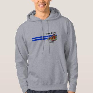 速度のスケート選手の内部     (フード付きスウェットシャツ) パーカ