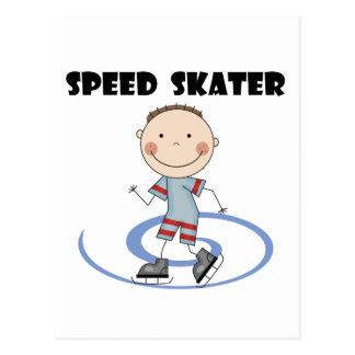 速度のスケート選手-男の子のTシャツおよびギフト ポストカード