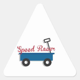速度のレーサー 三角形シール