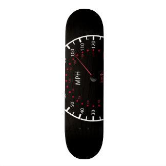 速度計とのスケートボードの黒 スケートボード