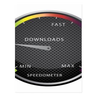 速度計のグラフィック・デザイン ポストカード