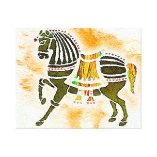 速度|の馬の      精神 キャンバスプリント