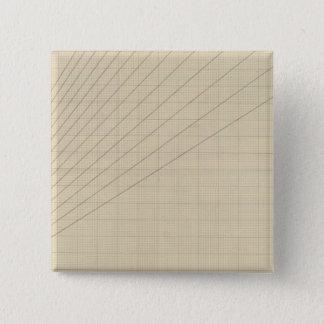 速度、時間、間隔グラフ 5.1CM 正方形バッジ