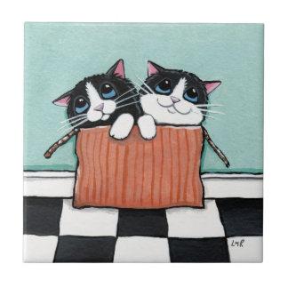速達|お洒落な猫の芸術のタイル タイル