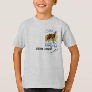 速達-エチオピアのBushbuckのスタンプ Tシャツ