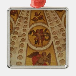 造られるドームからの天使の詳細1635-42年 メタルオーナメント
