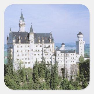 造られるヨーロッパ、ドイツ、ノイシュヴァンシュタイン城の城 スクエアシール