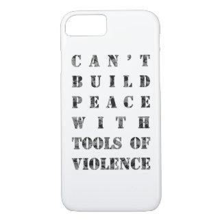 造る暴力の用具との平和をことができません(より暗い) iPhone 8/7ケース