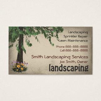 造園の芝生の心配のサービス業カード 名刺