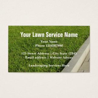 造園サービスおよび芝生の心配の名刺 名刺