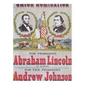 連合のための選挙のキャンペーンポスター ポストカード