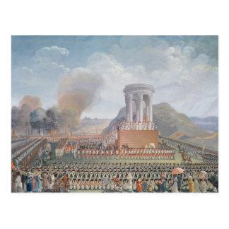 連合のフェスティバル、1790年7月14日 ポストカード
