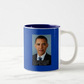 連合の完全さのオバマ ツートーンマグカップ
