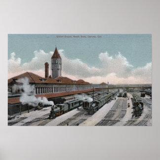 連合ターミナルの鉄道北側面 ポスター