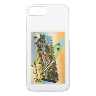 連合ニュージャージーNJの古いヴィンテージ旅行郵便はがき iPhone 7ケース