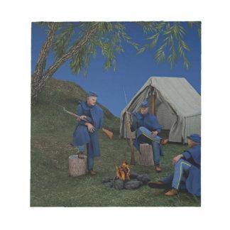 連合兵士の野営 ノートパッド