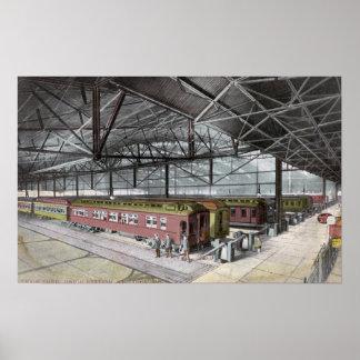 連合場所で取除かれる列車 ポスター