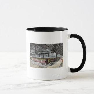 連合場所で取除かれる列車 マグカップ