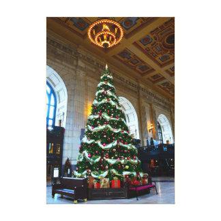 連合場所のクリスマスツリー、カンザスシティ キャンバスプリント