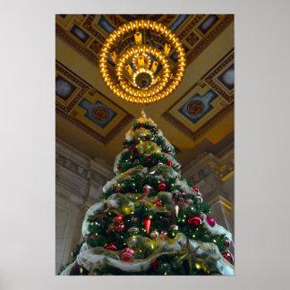 連合場所のクリスマスツリー ポスター