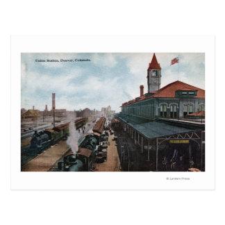 連合場所の鉄道の眺め ポストカード