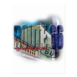 連合場所-ルート66 -シカゴ ポストカード