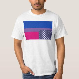 連合星が付いている逆にされた両性の旗 Tシャツ