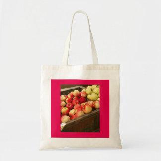 連合正方形のりんごのトートバック トートバッグ