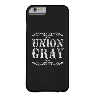 連合灰色の黒いヴィンテージのiPhone6ケース Barely There iPhone 6 ケース